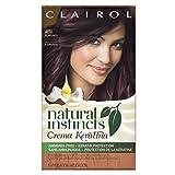eggplant hair dye - Clairol Natural Instincts Crema Keratina Hair Color Kit, Burgundy 4RV Eggplant Creme