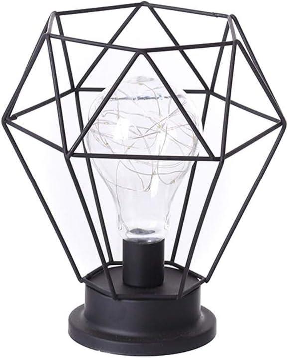 Cherishly Retro Lámpara De Mesa Minimalista Industrial Hierro Forjado Lámpara De Escritorio Rústico Mate Titular De Luz para La Sala De Estar En Casa Decoración Refined