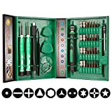 Smraza Precision Screwdriver Set, 38 in 1 Magnetic Screwdriver Kit Repair for iPhone, Laptop, iPad and Electronic Devices with Different Types Screw Driver, Tweezers and Extension Shaft