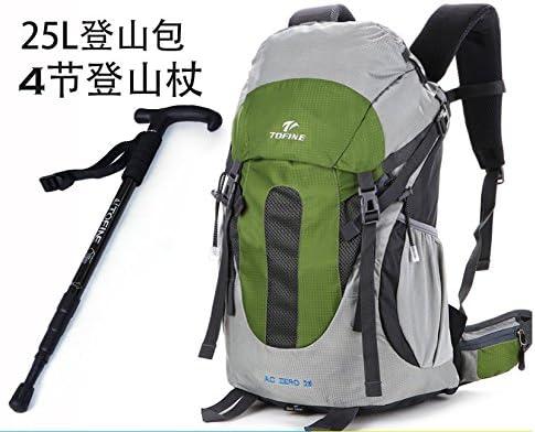 lzzxff Alpine al aire libre senderismo 25L impermeable mochilas +, pequeño verde montaña escalada ingresos