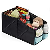 Car Seat Storage Organizer - Waterproof Car Console Organizer for Snacks, Toys, Documents, Road Trip Essentials - Collapsible Back Seat, Trunk, Front Seat Organizer + Bonus Car Hooks by BabySeater