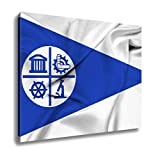 Ashley Canvas Waving Flag Of Minneapolis Minnesota, Home Office, Ready to Hang, Color 20x25, AG6461179