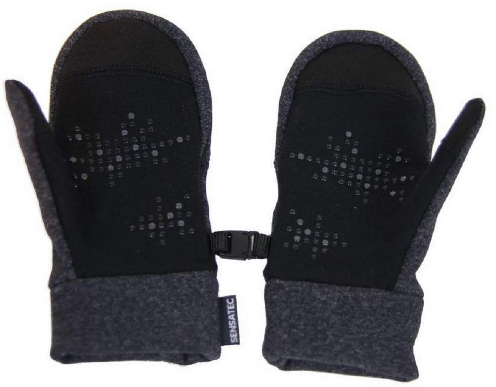 HEAD Touchscreen Compatible Mittens for Kids XS, Dark Heather Gray