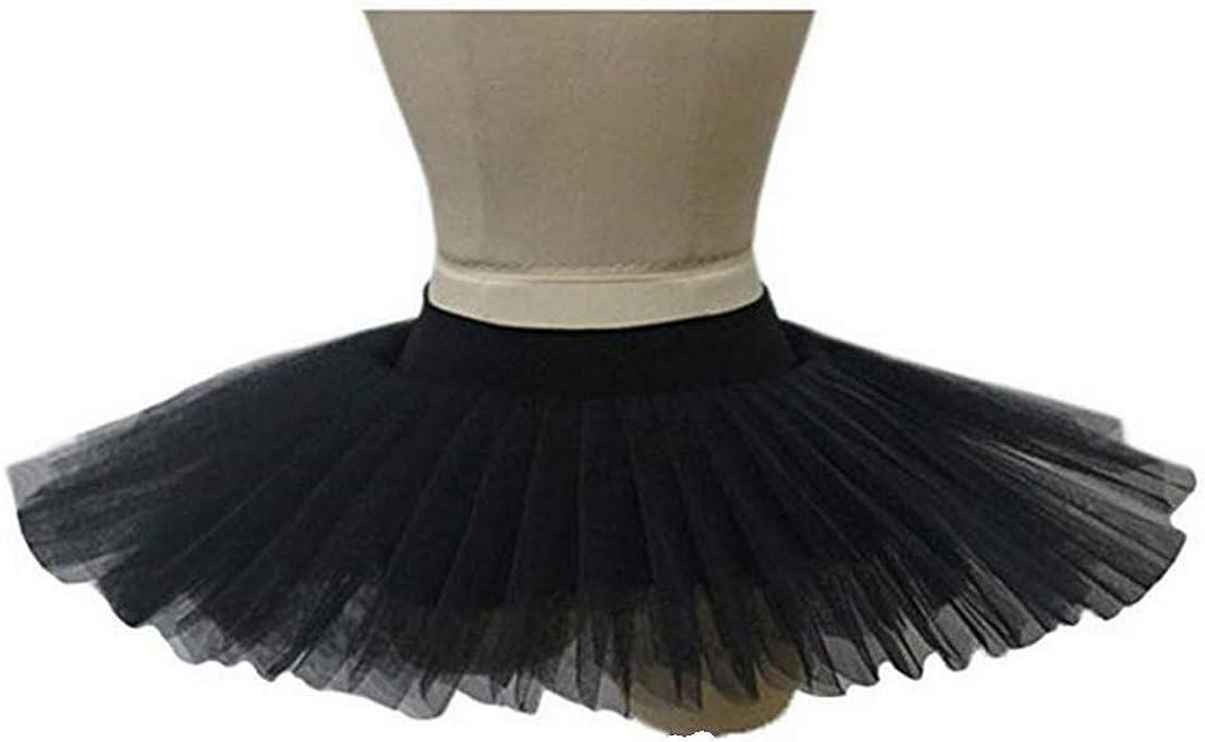 schwarz 34cm Ballet Pancake Tutu R/öcke f/ür Erwachsene Ballerina Dance Kost/üme f/ür Erwachsene