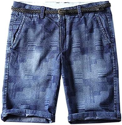 CrazyDayMen Modern Pockets Jean Lapel Denim Plaid Fray Hem Button Down Dress Shirt
