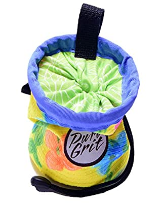 Little Kid Sized Flower Power Chalk Bag for 3-8 Year Olds (Usa Made) By Pure Grit