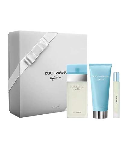 Estuche D&G Light Blue para mujer, perfume EDT 100 ml + ...