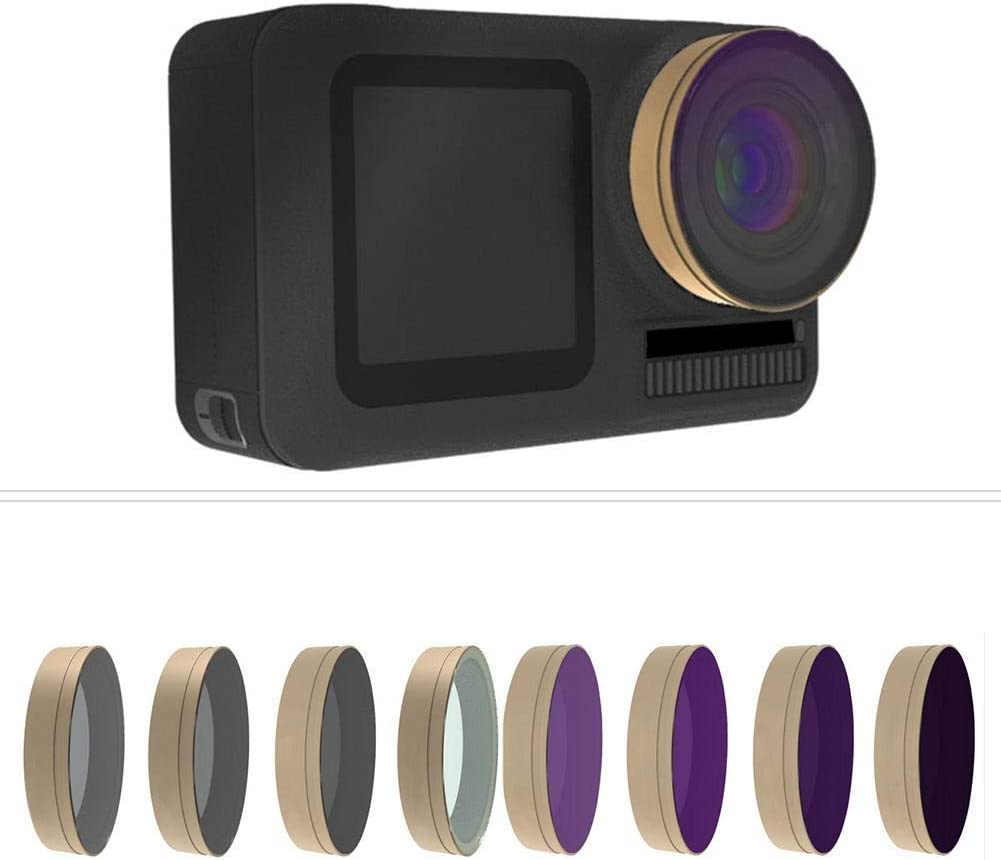8Pcs Lens Filter Set Suitable for DJI OSMO Action.Good for Outdoor use und Good Accessory for Photography Lovers. Vbestlife Cinema Series Filter 8 Pack CPL ND4 ND8 ND16 8PL 16PL 32PL 64PL