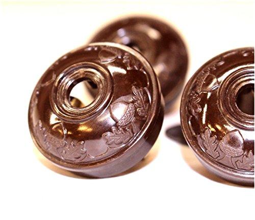 acorn-bakelite-brown-tiffany-and-co-replica-lighting-parts-plugs-handel-hubbard-5pcs