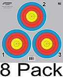 Archery 5 SPOT & 3 SPOT Vegas Targets by Longbow 8, 20, 50 & 200 Packs (3 Spot (8 Pack))