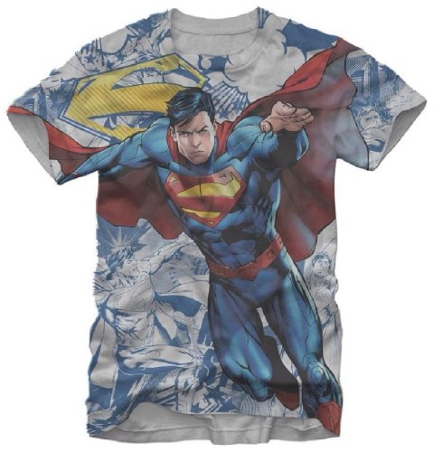 Small Son of Krypton Superman Man of Steel Sublimation Mens T-shirt S