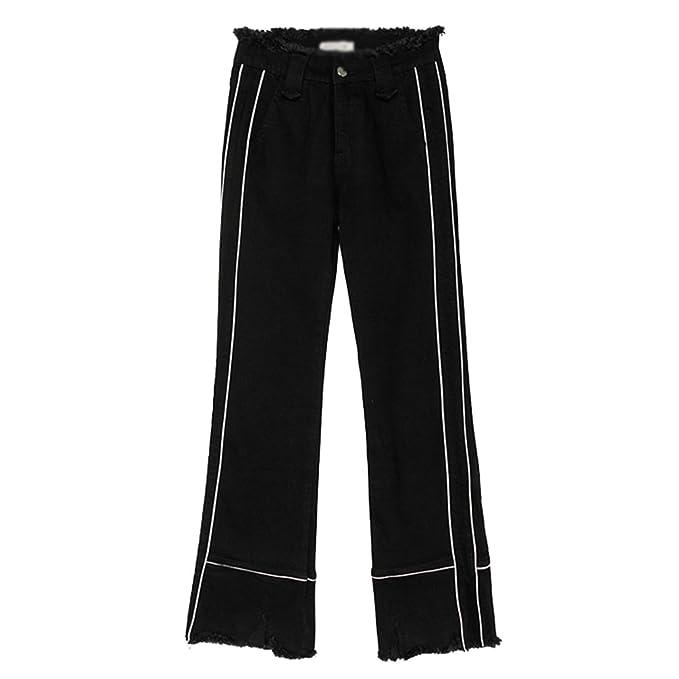 CHENGYANG Mujer Otoño Jeans Pantalones Elegante Largos ...