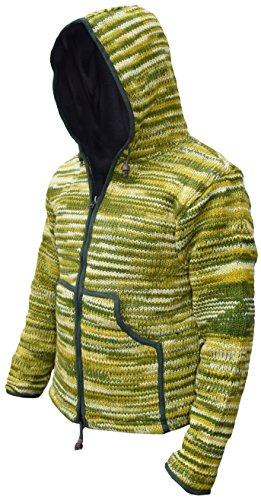 Uomo Lunghe Tie Giacca Kathmandu Green Little Maniche Dye x61atq