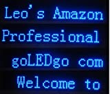 goLEDgo LED Banner, Blue color Moving Message sign, Scrolling message, LED Display, Messager billboard,Size:38''x6.5''x1.2'', Ultra Thin and light, Live Programmable Messager board, USB Disk control