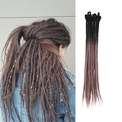 HAIQUAN 5Strands Handmade Dreadlocks Extensions Reggae Hair 22 Soft Faux Locs Crochet Havana Mambo Twist Braiding Hair Ombre Apricot Color