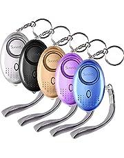 SUNMAY persoonlijk alarm, 5 pakketten 140DB persoonlijk beveiligingsalarm met LED-licht, zelfverdediging noodalarm voor vrouwen, kinderen, ouderen, nachtdiensten