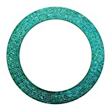 Cheap DecorShore 24″ Turquoise, Handmade Wall Mirror, Decorative Glass Mosaic by