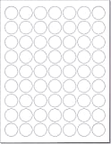 Laser/Ink Jet White Labels (1'' Round - 63 per Page | 3150 Labels)