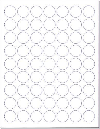 Laser/Ink Jet White Labels (1'' Round - 63 per Page | 3150 Labels) by Next Day Labels