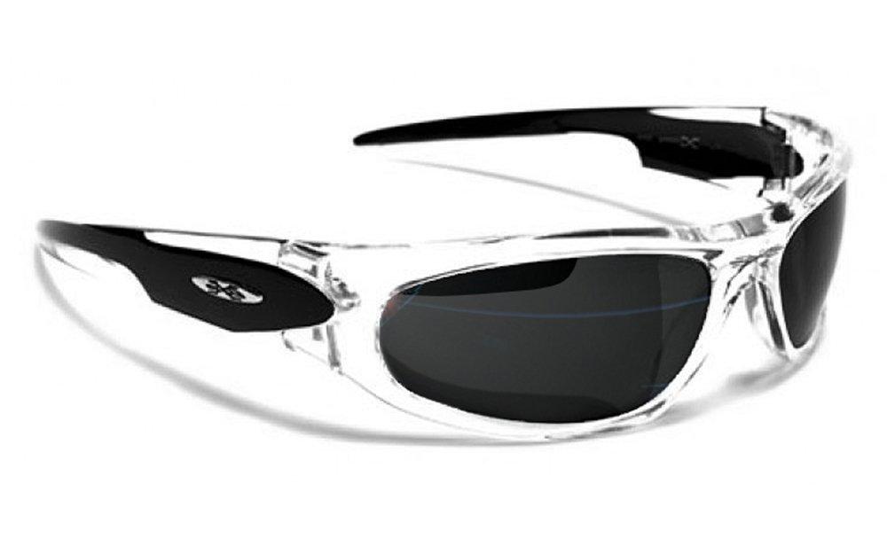 Occhiali da Sole X-Loop - Sport - Ciclismo - Sci - Corsa a Piedi - Moto - Tennis / Mod.012P Nero Traslucido / Un formato adulto / 100% Protezione UV-400 Xloop