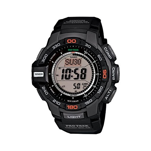 Casio ProTrek Tough Solar Triple Sensor Watch, Black, small PRG270-1