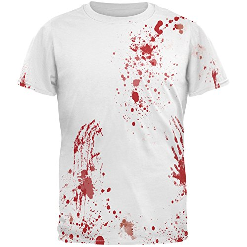 Old Glory Halloween Blood Splatter All Over Costume Adult T-Shirt - X-Large ()