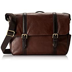 Fossil Men's Estate Saffiano Leather East-West Messenger Bag