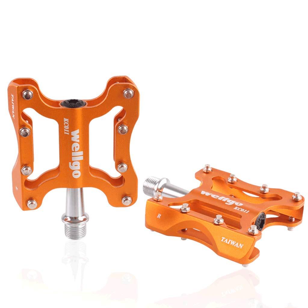 FCSW バイクペダル マウンテンバイクペダル 超軽量 アルミニウム合金ボディシールドベアリング 自転車ペダル  オレンジ B07LGXRJSJ