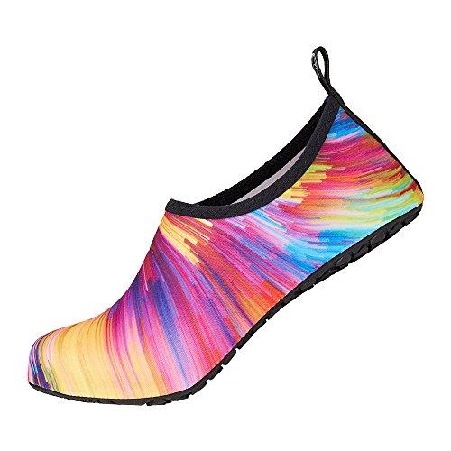WULFUL Womens Mens Water Shoes Barefoot Quick-Dry Aqua Yoga Socks for Beach Swim Surf Exercise from WULFUL