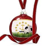 Christmas Decoration Soccer Team Flag Rhode Island region America (USA) Ornament