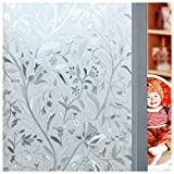 Bloss 3D window decals Window Films glass decals Static Decorative Films No Glue Self-Adhesive privacy protection Anti UV (17.7-by-78.7 Inch)