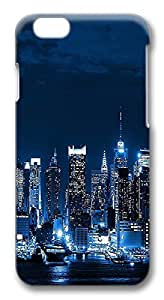 ACESR Lastest iPhone 6 Cases, New York Night PC Hard Case Cover for Apple iPhone 6 (4.7 INCH) - 3D Design iPhone 6 Case