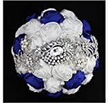 Burst Models in Europe and America Wedding Bridal Bouquets Welcome Props Holding Bridesmaid Bouquet Applicable Western-style High-end Handmade Silk Valentine's Day Bouquet Bride Satin Holding Flowers Wedding European and American Bride Holding Flowers Mul
