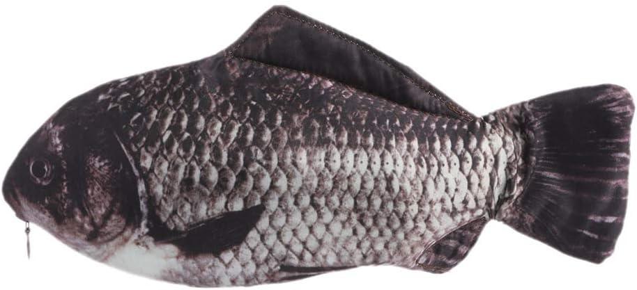 Estuche para lápices con forma de pez realista y creativo, para suministros escolares, papelería 02: Amazon.es: Hogar