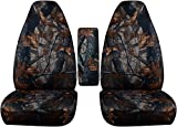 ford ranger seat cover camo - 2004-2012 Ford Ranger/Mazda B Series Camo Truck Bucket Seat Covers with Center Armrest Cover: Gray Real Tree Camouflage (16 Prints) 2005 2006 2007 2008 2009 2010 2011