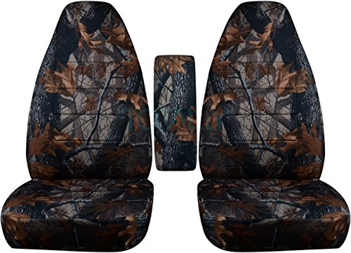 Totally Covers Fits 1991-1997 Ford Ranger/Explorer/Explorer Sport & Mazda Navajo/B-Series Camo Truck/SUV Bucket Seat Covers w Center Armrest Cover: Gray Real Tree Camouflage 1992 1993 1994 1995 ()