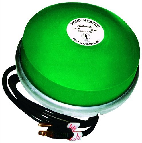 Farm Innovators Farm (Farm Innovators Model P-418 Premium Cast Aluminum Floating Pond De-Icer, 1,250-Watt)