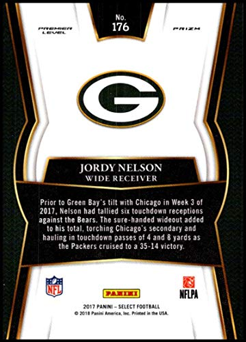 2845cd128 Amazon.com: 2017 Panini Select #176 Jordy Nelson Green Bay Packers Premier  Level: Collectibles & Fine Art