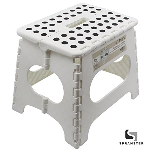 White Folding Step Stool 11 High The Lightweight Stool Is Sturdy Enough To Support Adults