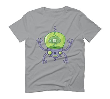 Brainbot Men's Graphic T-Shirt - Design By Humans: Amazon.co.uk: Clothing