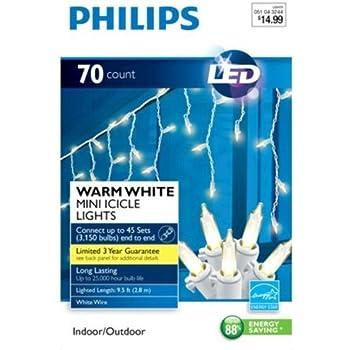 Amazon Com Philips 12ct Cool White Led Cascading Icicle