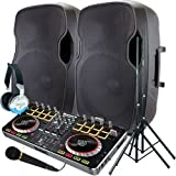Serato Software DJ System - Numark MixTrack Pro II - A pair of 1200 Watt Powered DJ Speakers w/Stands, Microphone, Headphones and Serato DJ Software