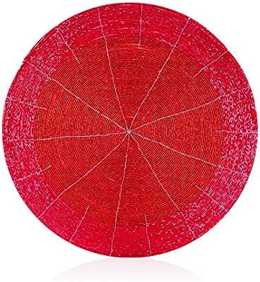 Colgante de cristal redondo de cristal rojo de 35cm - Decoración ...