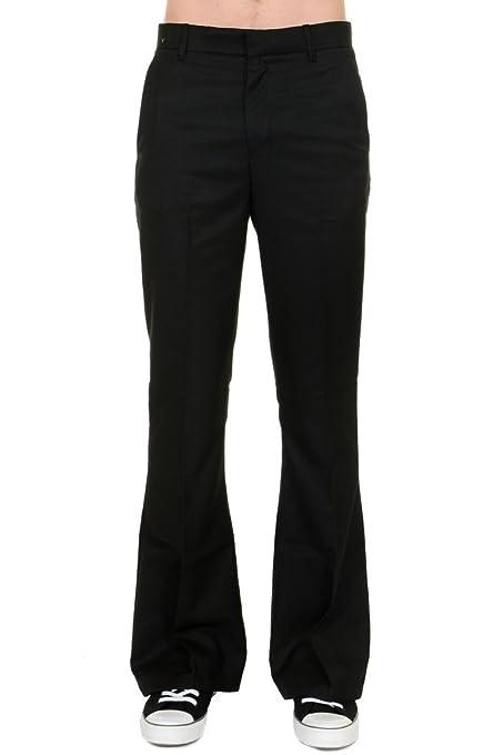 Men's Vintage Christmas Gift Ideas Run & Fly Mens 60s 70s Presley Vintage Black Bell Bottom Trousers £26.99 AT vintagedancer.com
