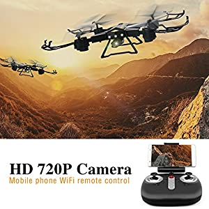 Your Supermart RC Drone with Camera Foldable WiFi FPV RC Quadcopter Headless Mode One Key Return Good Choice for Drone by Your Supermart