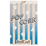 300612 5 1/2'' x 3 1/4'' x 8 5/8'' 85 oz. EcoCraft Popcorn Bag - 500/Case By TableTop King