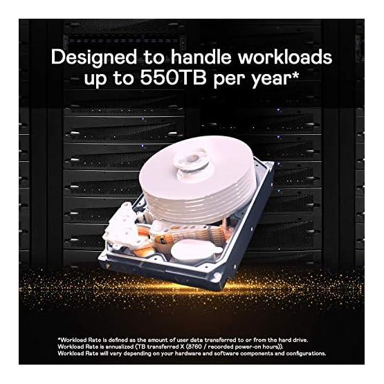 "WD Gold 10TB Enterprise Class Internal Hard Drive - 7200 RPM Class, SATA 6 Gb/s, 256 MB Cache, 3.5"" - WD102KRYZ 51GOhNPx zL. SS555"