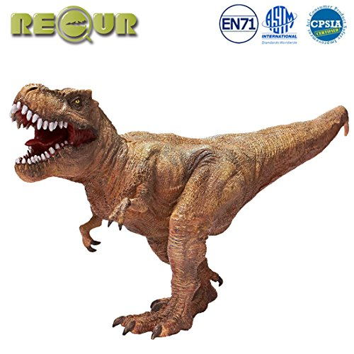 """RECUR 14"""" Tyrannosaurus Rex Jurassic Toys,Soft Hand-Painted Dinosaur Toy Figurine Model- Realistic 1:40 Jurassic Dinosaur Action Figures with Teeth,Ideal for Collectors, Ages 3 And ()"""