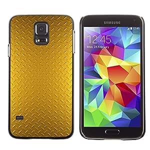 TopCaseStore / la caja del caucho duro de la cubierta de protección de la piel - Plate Pattern Shiny Reflective - Samsung Galaxy S5 SM-G900