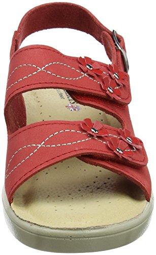 Donna red Retro Sandali Con Bluebell Red Sul Chiusura Nub Padders w7q8YxTw